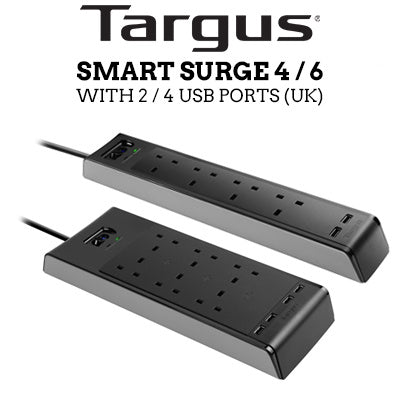 "Targus  ""Smart Surge 4"" with 2 USB Ports (UK)"