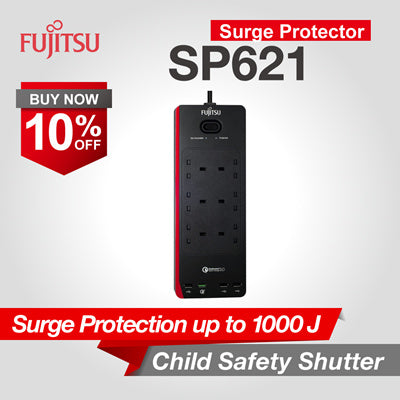 Fujitsu Surge Protector With Quick ChargeTM 3.0-SP621