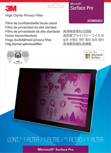 3M™- High Clarity Privacy Filter for Microsoft® Surface® Pro (2017 model)