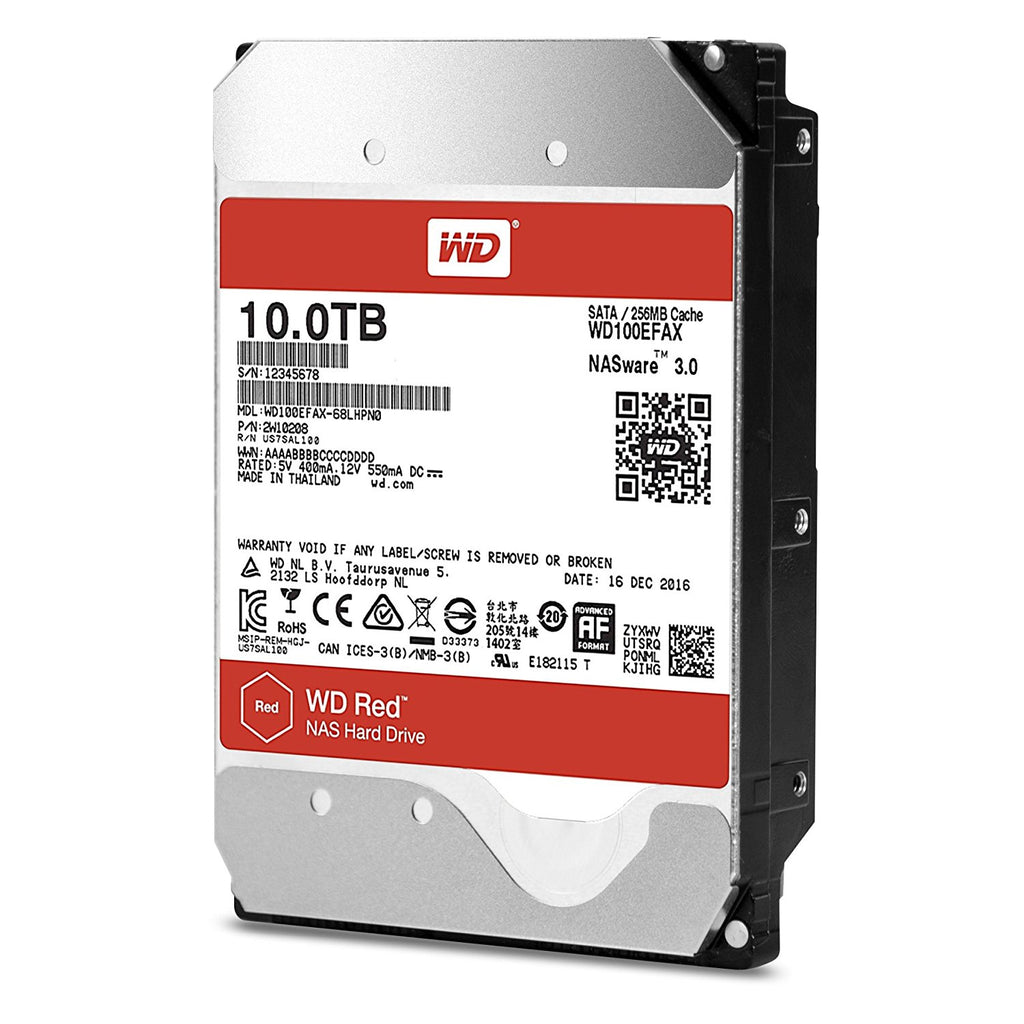 "Western Digital 3.5"" Int HDD 10TB (Red)*"
