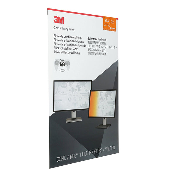 3M™- GF215W9B Gold Desktop Privacy Filter (Widescreen 16:9)
