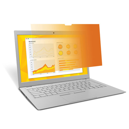 3M™- GH140W9B Gold Laptop Privacy Fiilter for high resolution displays(1920x1080) (Widescreen 16:9 aspect ratio)