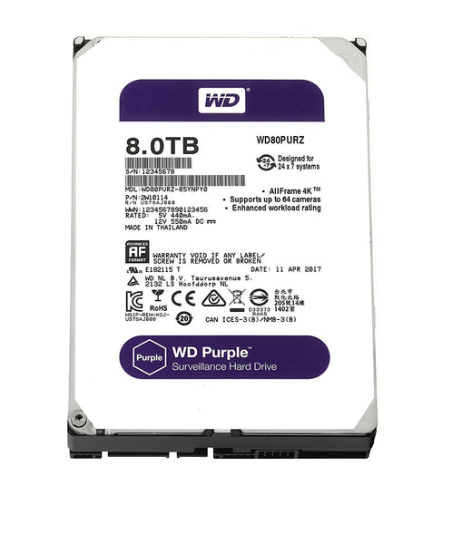 "Western Digital 3.5"" Int HDD 8TB (PURPLE)*"