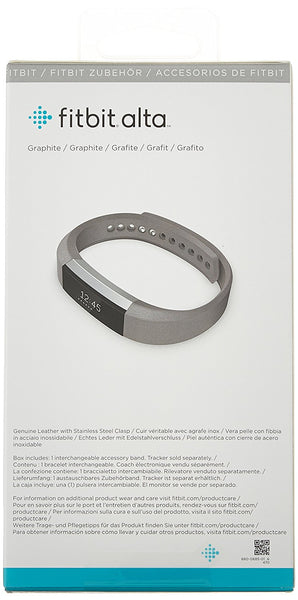 Alta Accessory Band Leather Graphite - Large