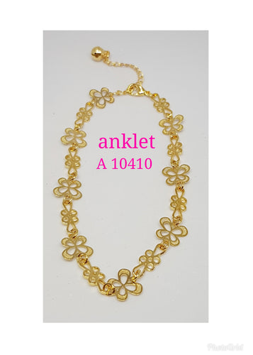 Gold Plated Anklet - A 10410
