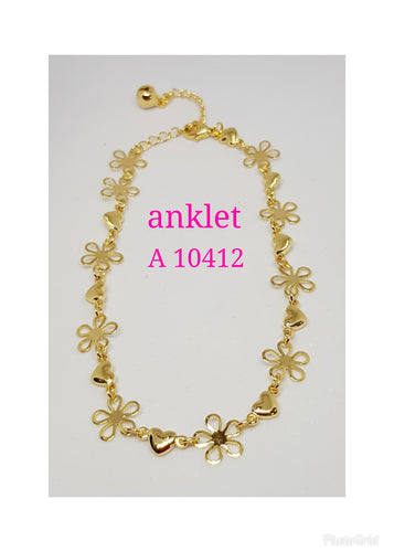 Gold Plated Anklet - A 10412