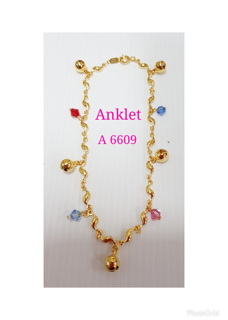Gold plating anklet - A 6609