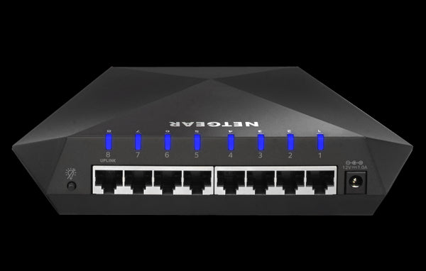 NETGEAR Nighthawk (GS808E) S8000 Gigabit Gaming Streaming Switch