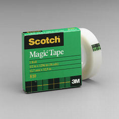 "3M MAGIC TAPE 1/2"" X 36YD  3M REMOVABLE MOUNTING SQUARES 1"" 16 PCS"