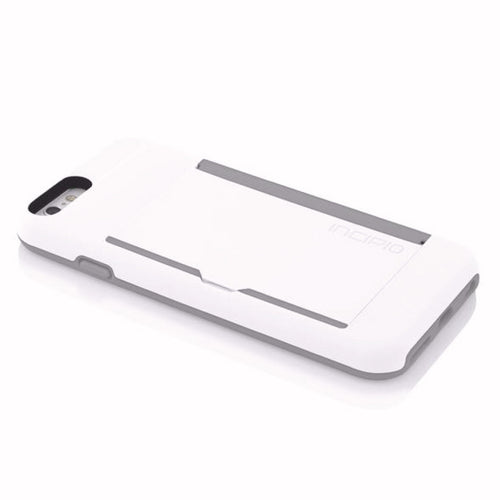 Incipio Stowaway [Advance] iPhone 6 Plus Case - White/Dark Grey