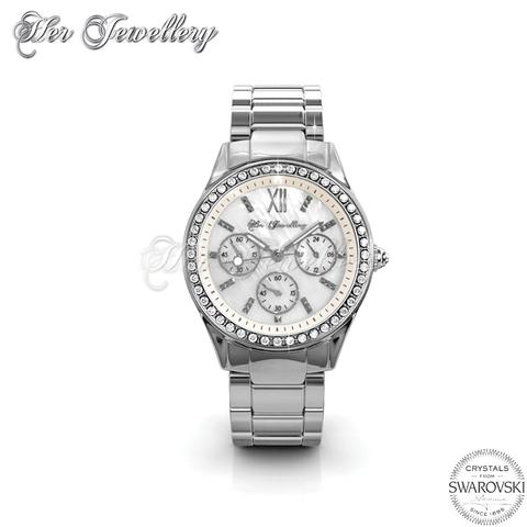 Pinkc Watch (Cream) - Crystals from Swarovski®