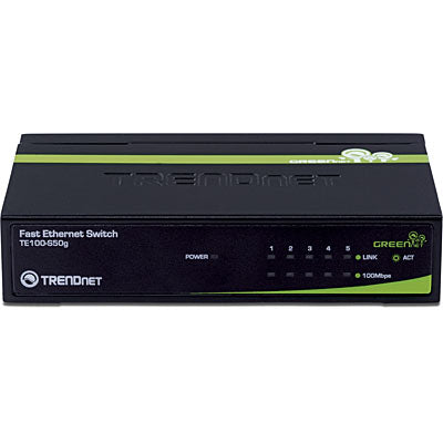 Trendnet 5-Port 10/100 Mbps GREENnet Switch
