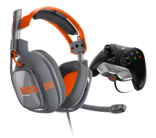 Bluemouth New ASTRO A40 Wired Xbox One Headset + MixAmp M80. Gen 2. Grey and Orange