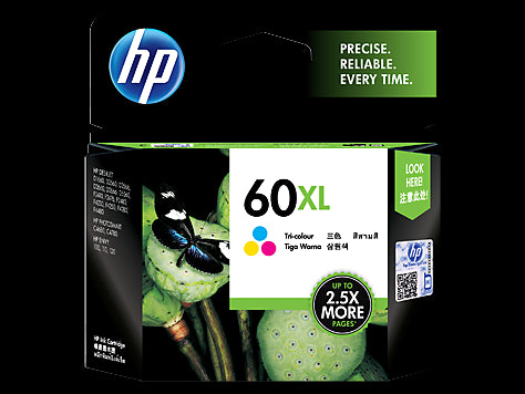 HP 60XL TRI-COLOR INK CARTRIDGE CC644WA