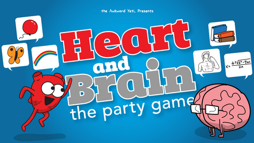 HEART and BRAIN - The Party Game by The Awkward Yeti