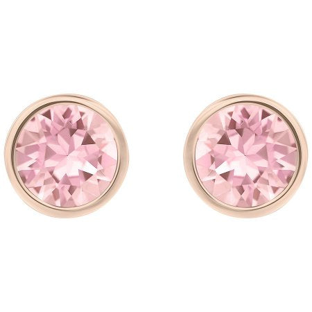 72794148a Swarovski Light Rose Crystal Solitaire Studs Pierced Earrings - Rose Gold  Plated ...