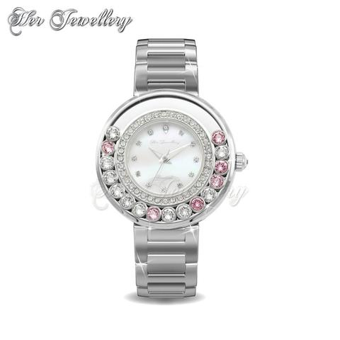 Glamour Watch (Pink) - Crystals from Swarovski®