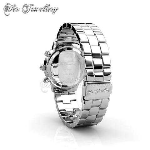 Mystiq Watch (White Gold) - Crystals from Swarovski®