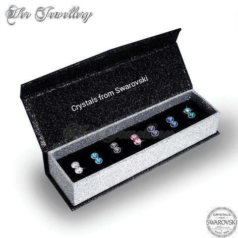 7 Days Petite Earrings Set - Crystals from Swarovski®