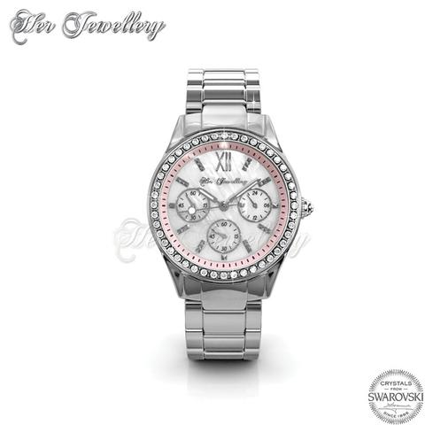 Pinkc Watch (Pink) - Crystals from Swarovski®