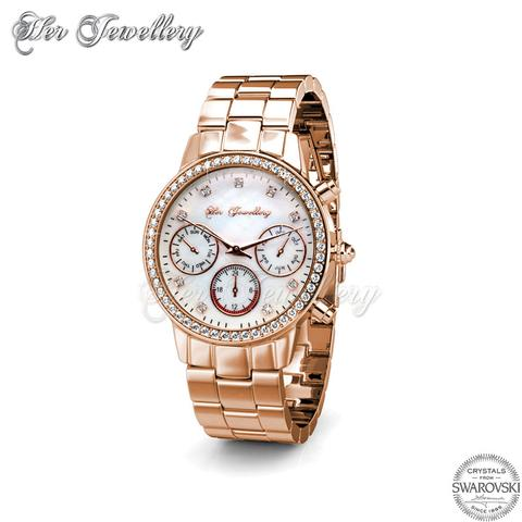 Mystiq Watch (Rose Gold) - Crystals from Swarovski®