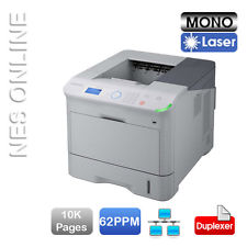Samsung Duplex Print / Network Print Speed 62ppm Resolution 1200x1200 interface USB 2.0 / Ethernet