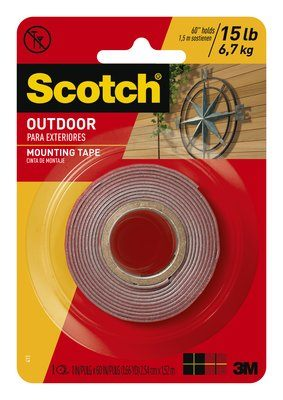 "3M MAGIC REMOVABLE TAPE 3/4"" X 36Y  3M PERMANENT OUTDOOR MOUNTING TAPE 1"" X 60"""
