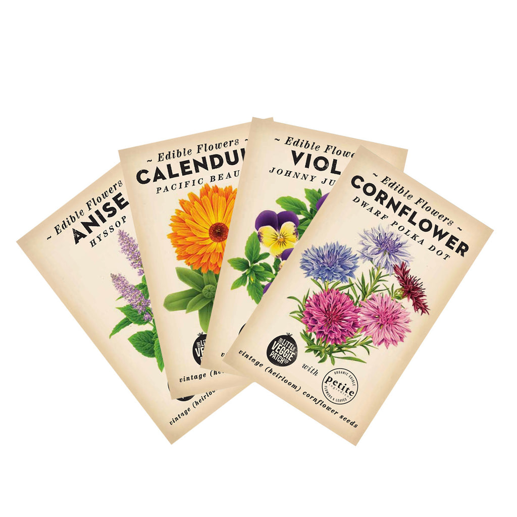 4 pack of Edible Flower Seeds