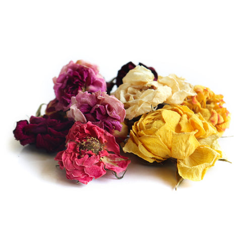 Dried Organic Edible Rose Heads
