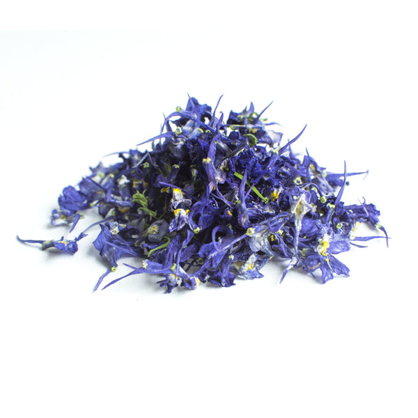 Dried Organic Edible Linaria Blue