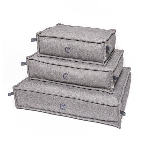 Hundebett Cozy Fishbone Ash Grey