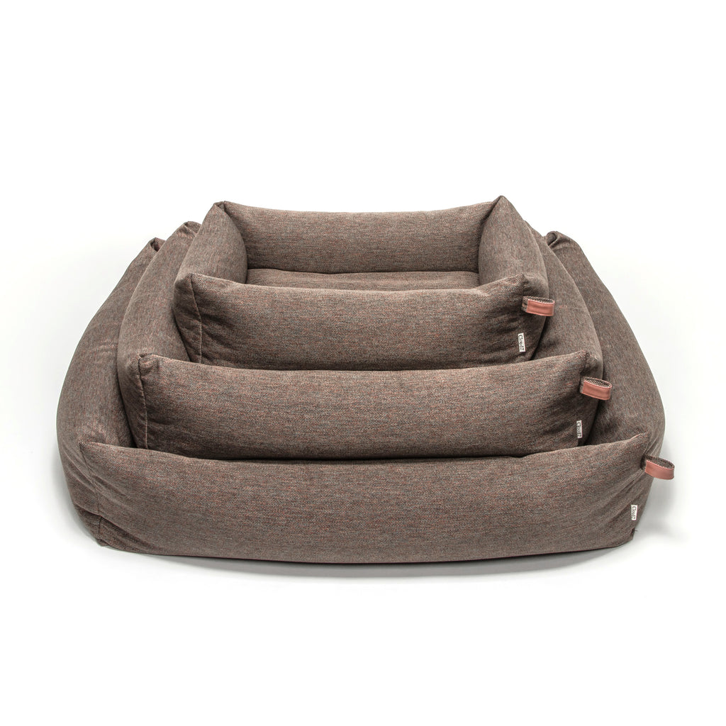 Hundebett SLEEPY Herringbone Brown