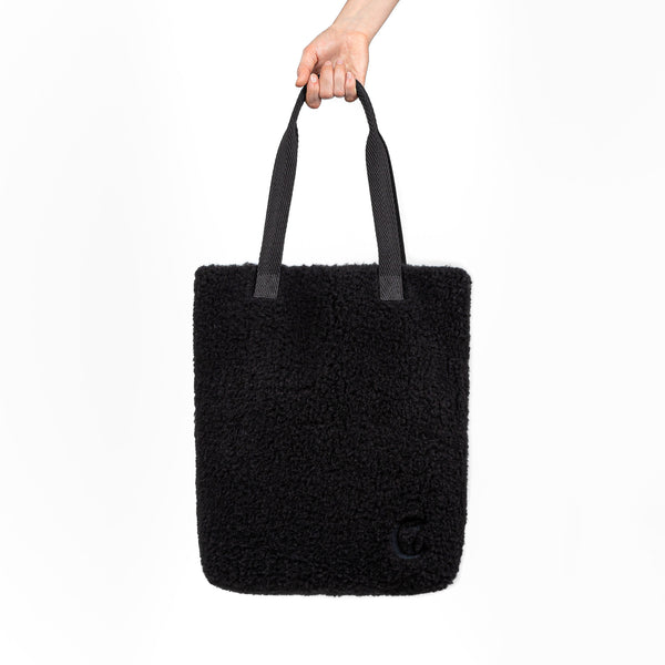 Plüsch Shopper Black