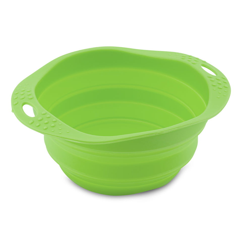 Collapsible Travel Bowl - green