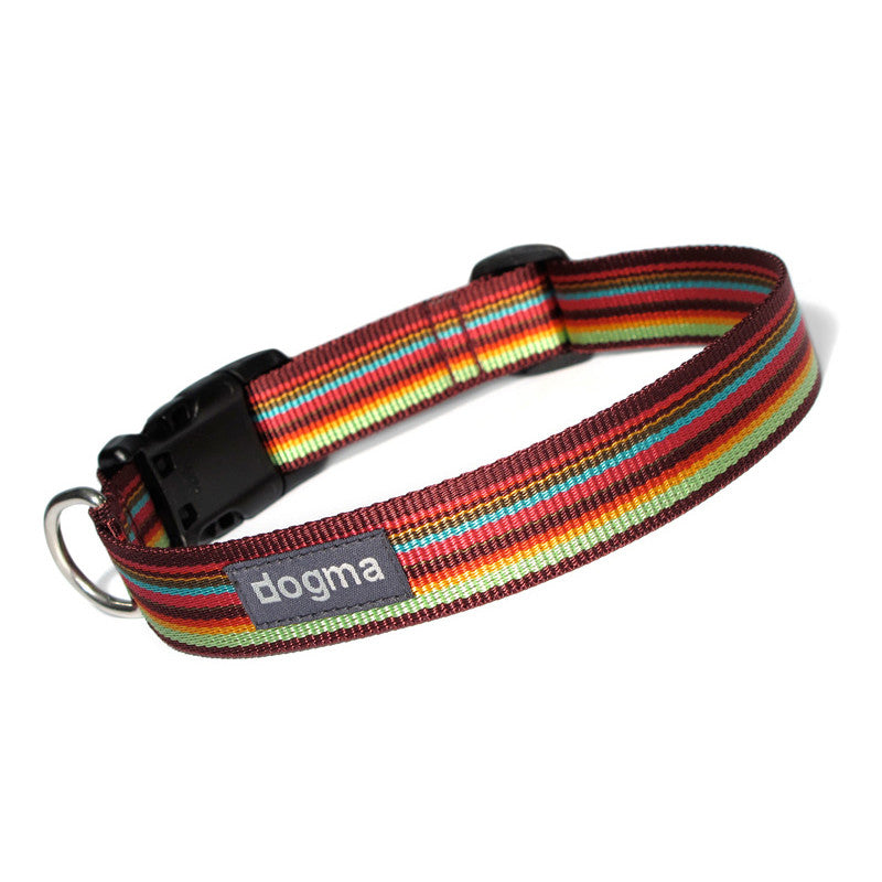 Hundehalsband Stripes 25 Bordeauxbunt