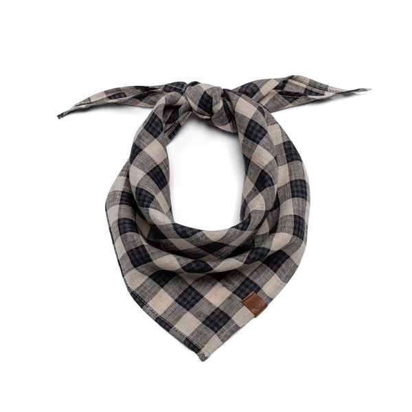 Cloud7 | Bandana Check Dark Blue – Beige - Hund von Eden