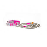 Studio am Meer | Studio am Meer, Halsband Best Friend Grau Pink - Hund von Eden