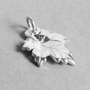 Maple leaf charm sterling silver or gold Canada pendant