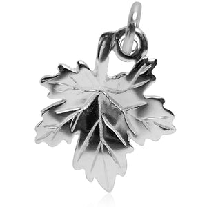 Maple leaf charm sterling silver or gold