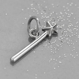Sterling silver magic wand charm