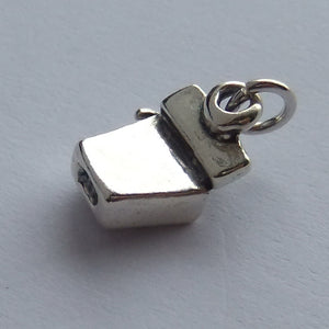 Dental Floss Charm Sterling Silver Dentist Pendant