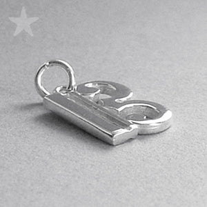 Sterling silver C clef music note charm pendant