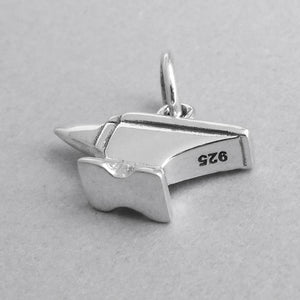 Sterling silver anvil charm blacksmith farrier pendant