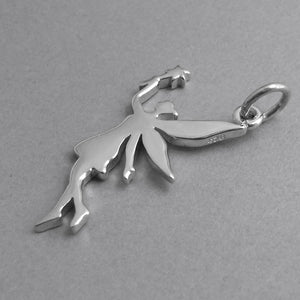 Fairy charm sterling silver pendant