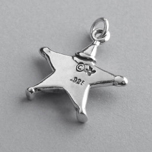 Winter clown star charm 925 sterling silver pendant