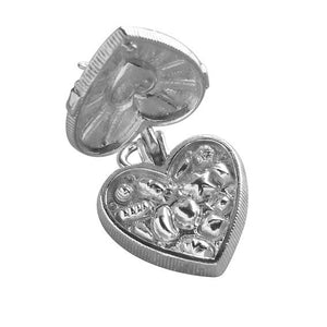 Box of chocolates charm sterling silver 925 or gold pendant