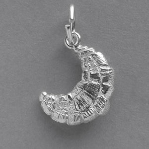 Croissant Danish pastry charm sterling silver 925 or gold pendant