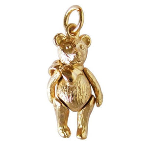 Yellow Gold Moving Teddy Bear Charm