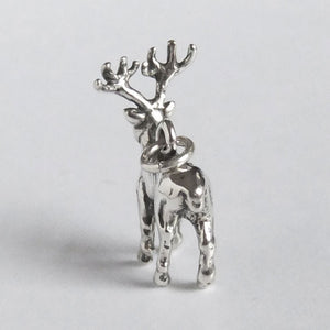 Deer stag charm sterling silver 925 pendant