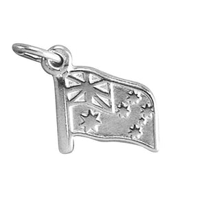 Sterling Silver 925 or Gold Australia Flag Charm Pendant